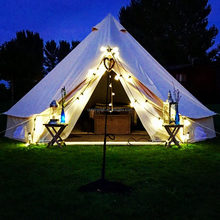 Factory supply waterproof 5 meter 6 meter canvas bell tent for sale