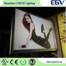Open hot sexy girl photo or photo picture frame glowing photo picture changeable led light box