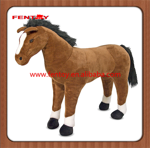 Small mini soft brown horse cute animal baby plush toy for discount
