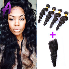 Large Stock Wholesale Price Natural Color Peruvian Loose Wave Remy Virgin Hair