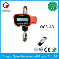 5 tons digital crane hanging scale hook weighing scale, China supplier