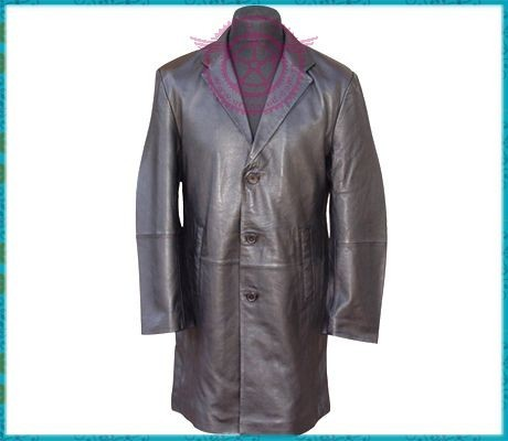 Wholesale Top Quality Fashion Leather Ladies Long Coat, Ladies Leather Long Coat, Top Quality Fashion Leather Long Coat