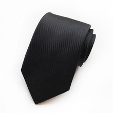 Solid Color Polyester Black <strong>Tie</strong> RTS Mens Silk Twill Neck <strong>Ties</strong>