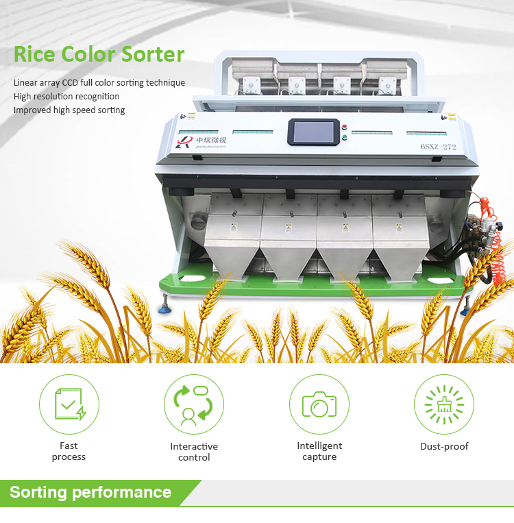 China Best Mini Rice Color Sorter 4 T/H Small Rice Color Selector,Hybridized Rice Color Sorter