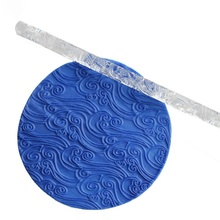 Crocodile Skin effect Texture Embossing Acrylic Fondant Cake Decorating Rolling Pin Pastry Tools Rolling Pins & Pastry Boards