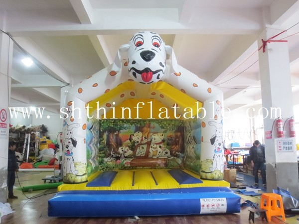 inflatable dog bouncer , inflatable jump castle , bounce house for kids