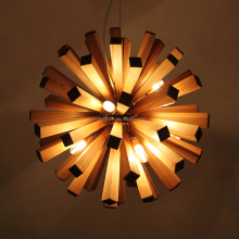 fancy design round wooden mounting bracket wood pendant light with CE ROHS