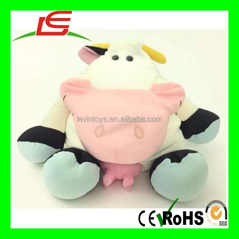 D508 2016 Stuffed Cow Microbead Moshi Like Plush soft Toy