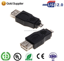 Micro B 5PIN OTG 2.0 USB Connector- Black