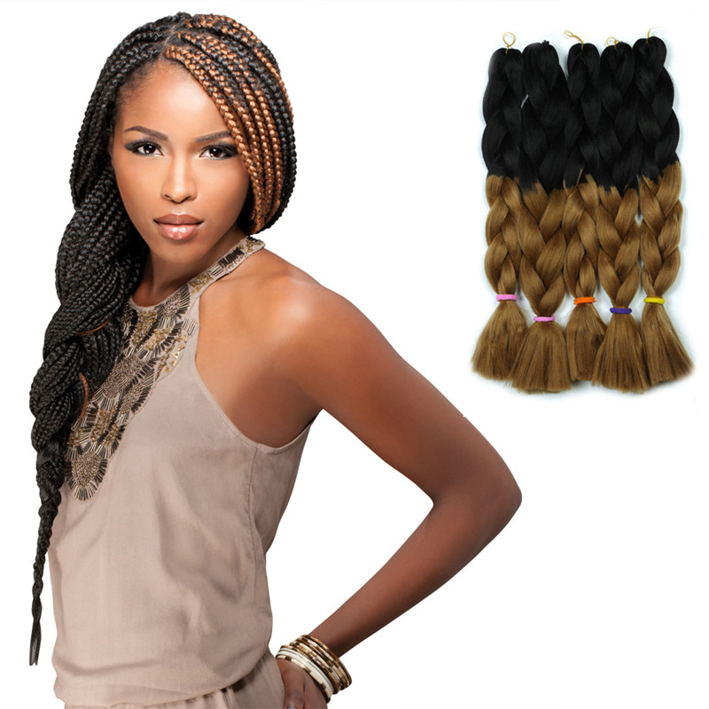 Ombre Hair Extension Braiding Hair Wholesale Expression Synthetic