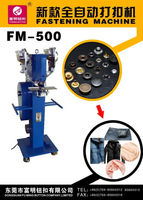 Jeans button attaching machine