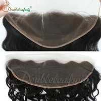 Brazilian human hair natural color body wave lace frontal piece