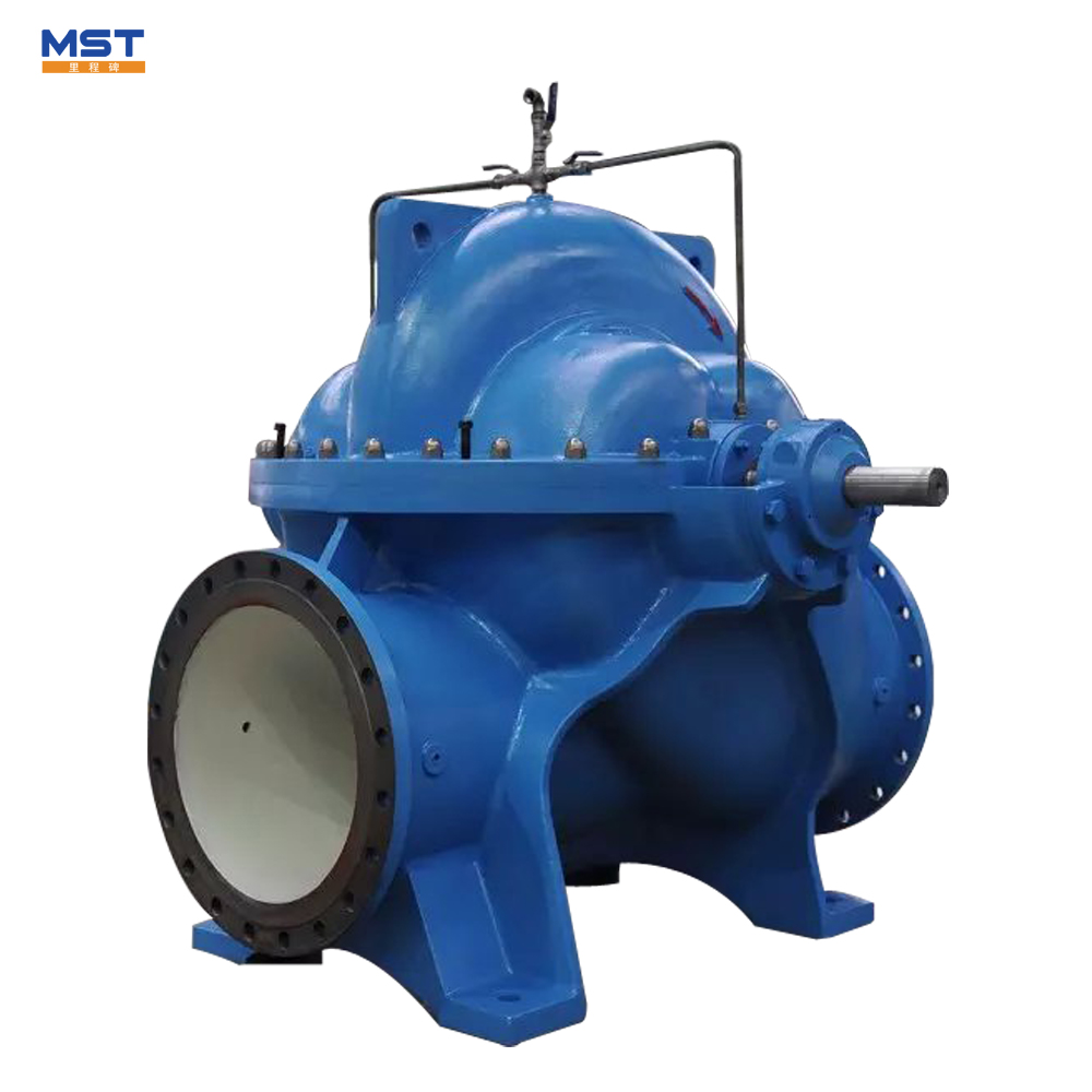 Low temperature split casing water pumps for irrigation system