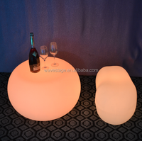 flashing luminous night club portable food table led bar coffee tables
