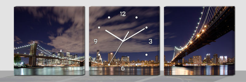 Big conch canvas picture wall clock