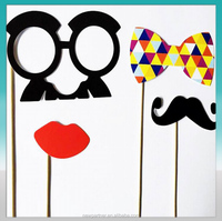 promotional 4pcs set photobooth props for Party Reunions Birthdays