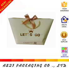 high end customize clothing packaging creative apparel bag without gusset