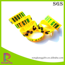 gym promotional gifts cheap engraved silicone wristband