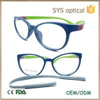 Good quality ready stock children eyeglasses with replaceable bracer kids optic frame