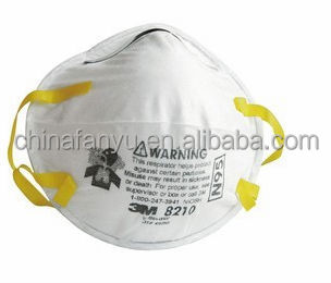 disposable non-woven 3m 8210 n95 respirator dust mask