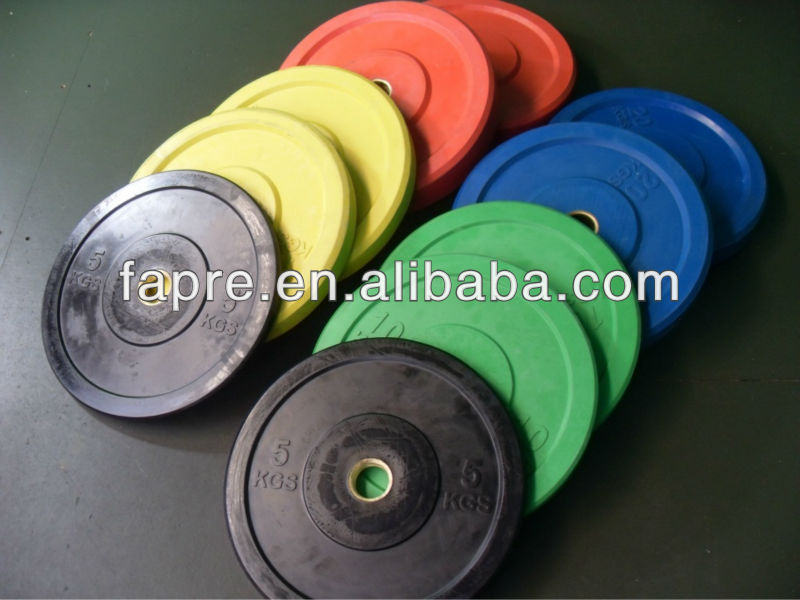 Bumper Plate Set /Rubber Bumper Plates Set /Gym barbell weight plate sets