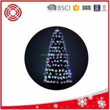 6ft new design high quality decorated acrylic snowfalkes fiber optical Christmas tree for sale