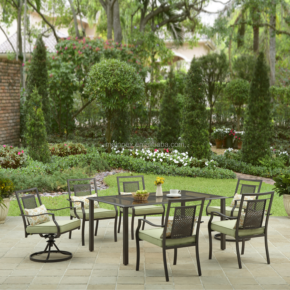 Bhg Bramblewood 7PCS Steel Dining Set Patio <strong>Furniture</strong>