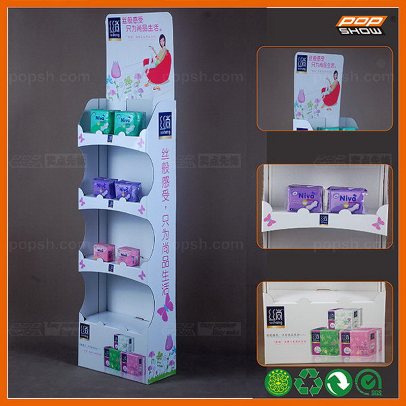 Hot sale folding corrugated cupcake display stand shelf