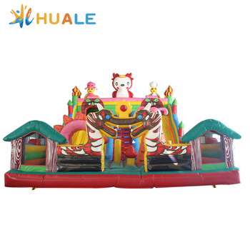 Giant amusement slide Inflatable Dragon bouncyCastle, Lovely Bouncer with Slide for Adults and Kids