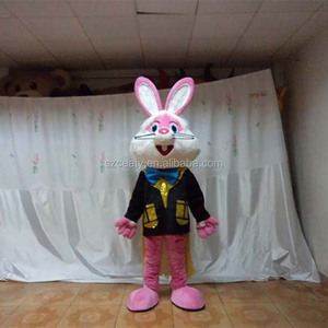 Various Designs Rabbit Buggs Bunny Mascot Costume Plush Fur Costume Human Costume