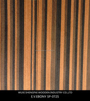 engineered reconstituted ebony timber wood face veneer for wooden decoration