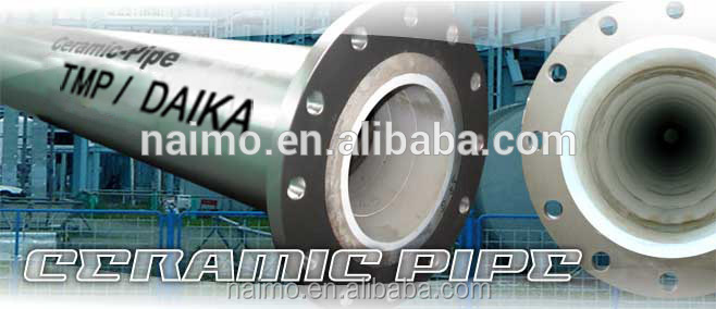 DAIKA Brand Ceramic-lined Steel Pipe with Long Service Life and Excellent Abrasion-resistance