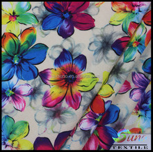 floral printed polyester georgette fabric for fashion dress digital fabric printing SUHI PRINT FABRIC