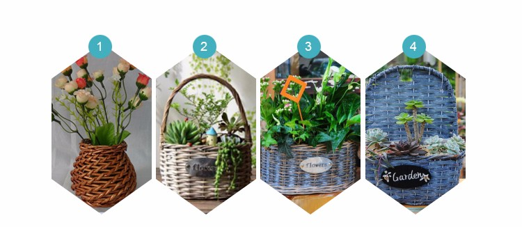 Customized wicker flower basket
