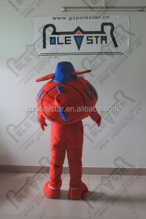 custom red plane mascot costumes OEM mascot design