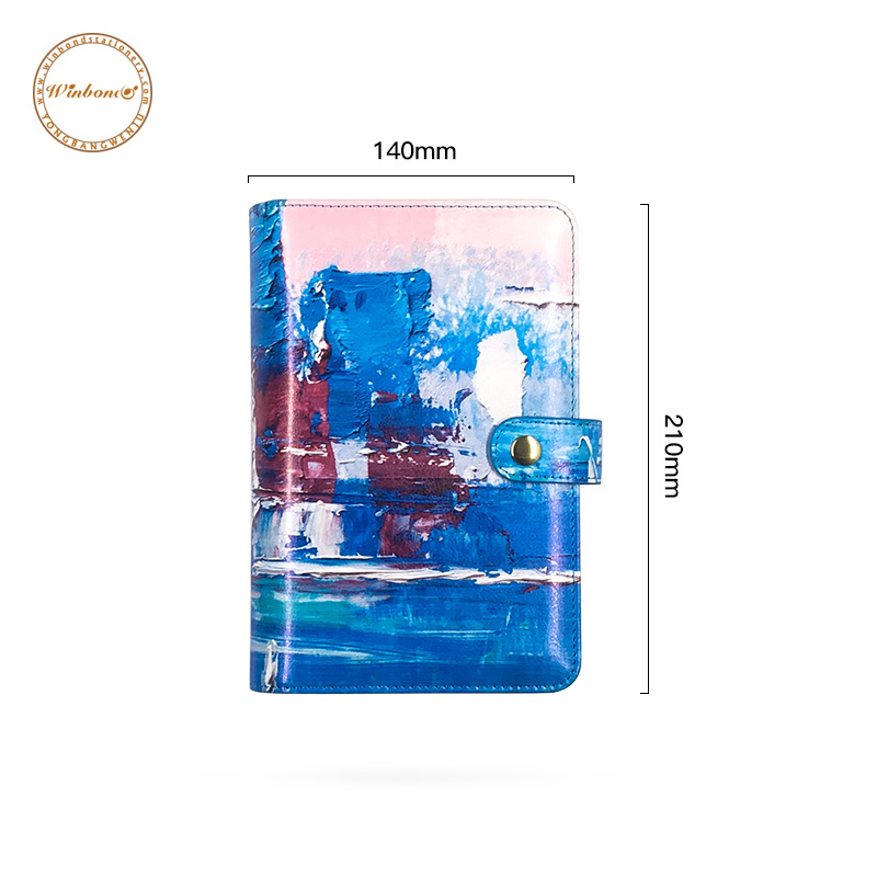 Printing A6 pu leather lesson goal setting sublimation planner