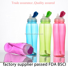 Hot Selling plastic 600ml shaker pet bottle for water,child water bottle shaker model