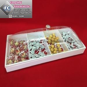 Acrylic Candy Storage Box gift snack Tray Display Box