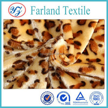 Plush fabric 2014 printing fabric Cheetah for Pet clothes