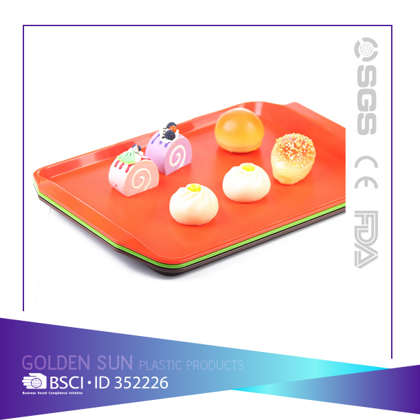 Restaurant/Bar food plastic anti-slip serving tray
