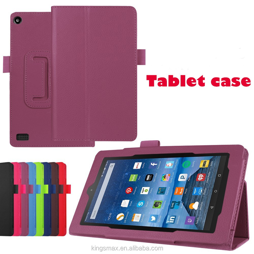7 Inch Tablet Case - Top Leather Standing Display Protective Flip Cover Case for Amazon Fire 7 Tablet
