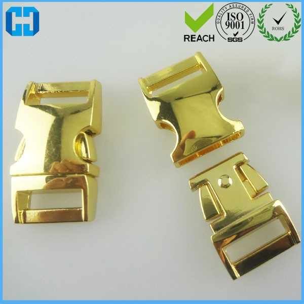 "1"" Curved Side Release Metal Buckle ISO Approved Factory"