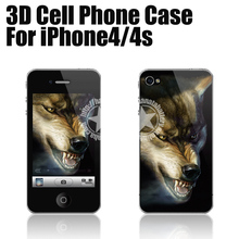 Mobile Phone 3D Case for iPhone4 4s 5 5s 5c (Wolf) Made in China