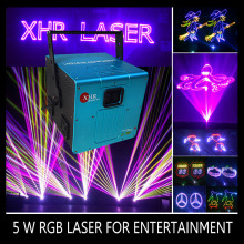 520nm Green and 462nm blue 5w multi color dancing light laser disco lazer light
