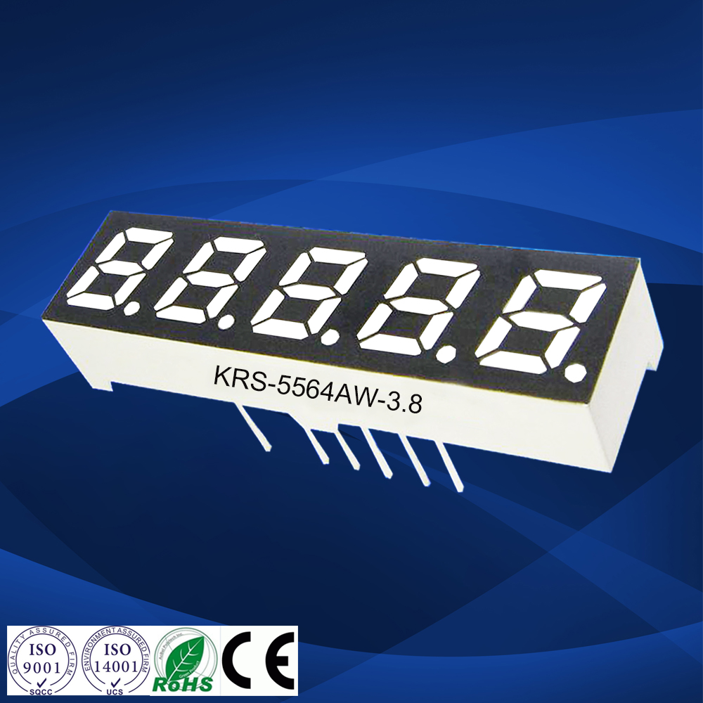 Common anode super white 0.56 inch 5 digit led digital clock five digits 7 segment display