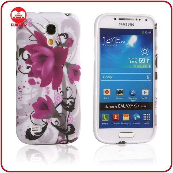 Populer Soft Silicone Stylish Color Flower Skin Cover for Samsung Galaxy s4 TPU Case