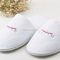 Welcome Coral Fleece Hotel Slippers Disposable
