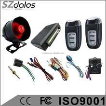 universal 12v vehicle system one way auto car alarm installation prices with universal remote control key at factory price