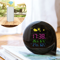 Manufacturer Moon Phase RF Wireless Weather Station With Alarm Clock