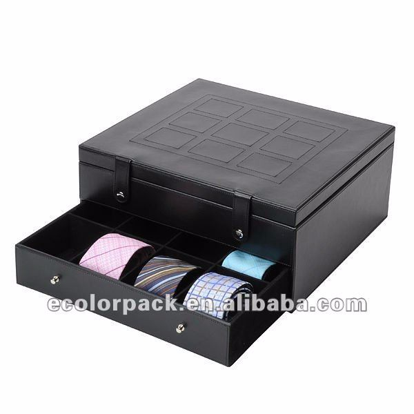 permium handcrafted wooden tie storage box for bow tie